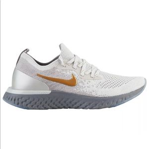 Women's Nike Epic React Flyknit gray & gold